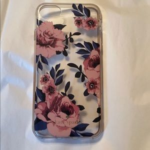 Kate Spade iPhone 8 floral case with jewels